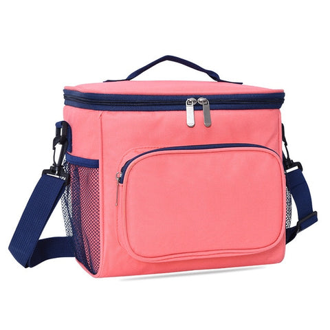 Thermal Insulated Lunch Bag Large Women Men Picnic Cooler Bags Bento Box Trips BBQ Ice Zip Pack Accessories Supplies Products