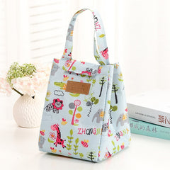 Fresh Leaves Design New Fresh Lunch Bags For Women Kids Food Cooler Lunch Box Tote Cooler Lunch Box Insulation Portable Tote Bag