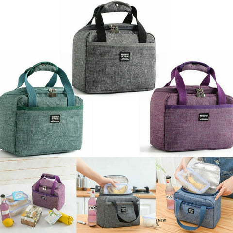 Portable Lunch Bag New Thermal Insulated Lunch Box Tote Cooler Handbag Bento Pouch Dinner Container School Food Storage Bags
