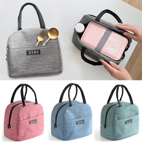 High-capacity Waterproof Lunch Box Bag for Women Kids Men Cooler Lunch Box Bag Tote Canvas Lunch Bag Insulation Package Portable