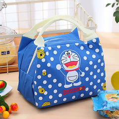 Doraemon Waterproof Lunch Bag for Women kids Men Cooler Lunch Box Bag Tote canvas lunch bag Insulation Package Portable