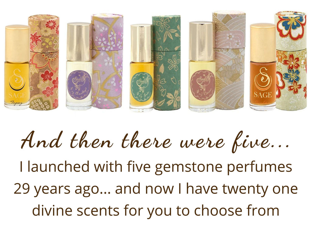The Birth of My Gemstone Perfumery and the Original Five Scents
