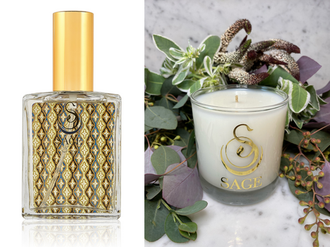 MY ABODE ~ Onyx Gemstone Perfume EDT and Candle Gift Set by Sage - The Sage Lifestyle