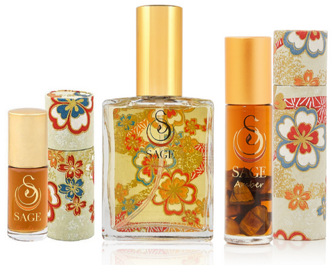 OBSESSION ~ Amber Gemstone Perfume Roll-On and EDT Gift Set by Sage - The Sage Lifestyle