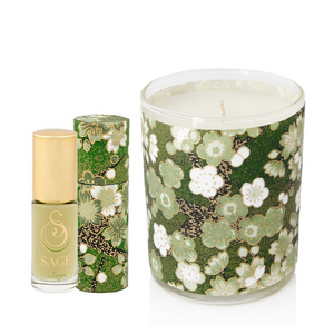 ESSENTIALS ~ Sage Gemstone Perfume Roll On and Candle Gift Set by Sage - The Sage Lifestyle