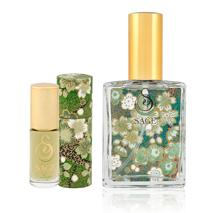 INDULGE ~ Sage Gemstone Perfume Roll-On and EDT Gift Set by Sage - The Sage Lifestyle