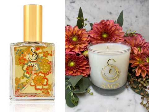 MY ABODE ~ Amber Gemstone Perfume EDT and Candle Gift Set by Sage - The Sage Lifestyle