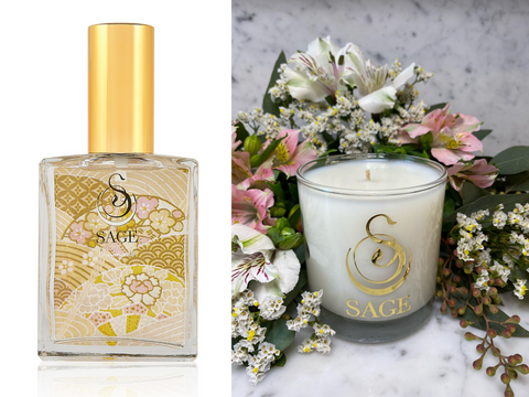 MY ABODE ~ Diamond Gemstone Perfume EDT and Candle Gift Set by Sage - The Sage Lifestyle