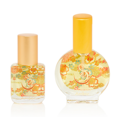 PETITE DUO ~ Amber Gemstone Perfume Extract Roll-On and EDT Mini Gift Set by Sage - The Sage Lifestyle