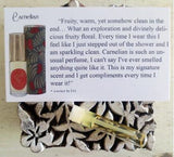 Fruity Perfume Oil by Sage - Sample Vial set of Citrine, Carnelian Perfume Oil by Sage