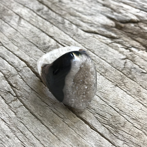 Druzy Agate Ring by Sage Machado, One of a kind Druzy Ring by Sage DR1