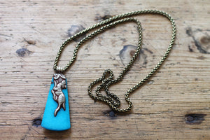 The Search For The Blue Bird And The Golden Deer One of a kind Vintage Tibetan Double Sided Animal Pendant Necklace - The Sage Lifestyle