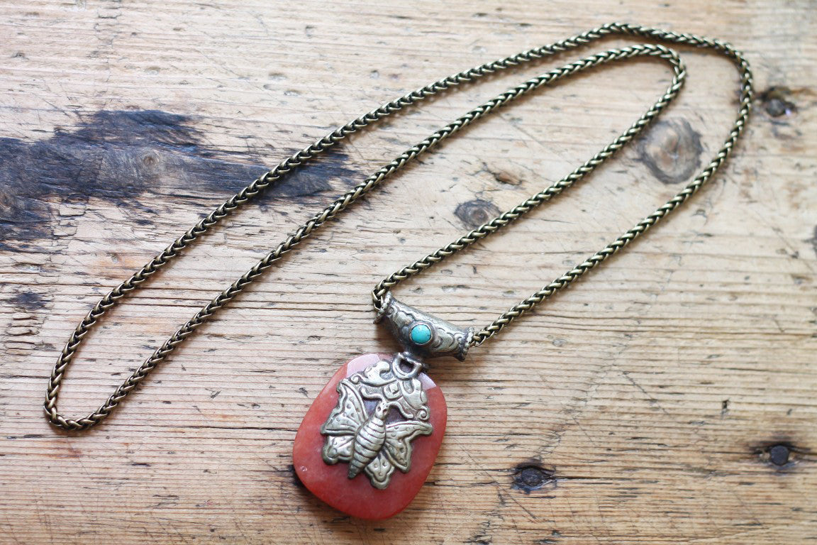 Of Moths and Lizards One of a kind Vintage Tibetan Double Sided Animal Pendant Necklace by Sage - The Sage Lifestyle