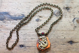 Phoenix Rising One of a kind Vintage Tibetan Double Sided Animal Pendant Necklace by Sage