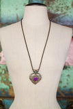 Spell of the Goddess One of a kind Vintage Tibetan Double Sided Purple Jade Pendant Necklace by Sage - The Sage Lifestyle