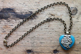 The Sound of The Divine Falcon One of a kind Vintage Tibetan Double Sided Animal Pendant Necklace by Sage