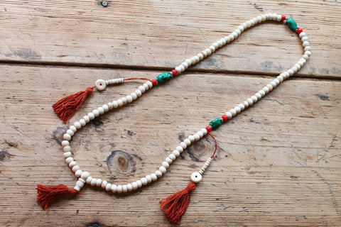 Daivika Tibetan Tassle Mala Necklace by Sage - The Sage Lifestyle