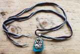 The Little Deer One of a kind Vintage Tibetan Double Sided Animal Pendant Necklace by Sage