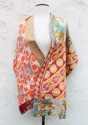 Elephant Dance One of a Kind Shawl, Reversible - The Sage Lifestyle
