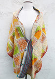 Ikat Dream One of a Kind Shawl, Reversible