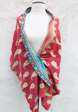 Egyptian Summer One of a Kind Shawl, Reversible - The Sage Lifestyle