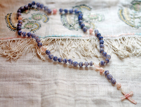 Indigo Cloud horsehair rosary at Sage