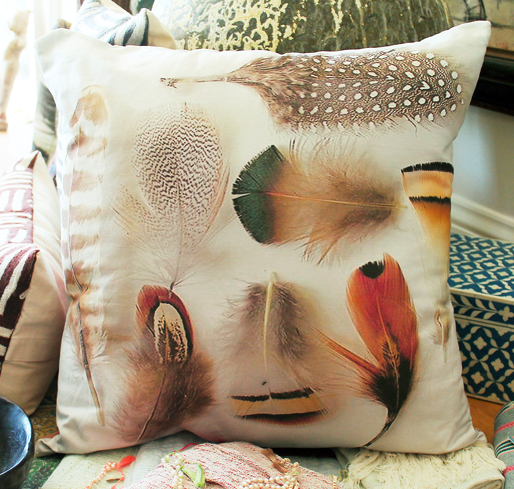 Large Bird Feathers Pillow - The Sage Lifestyle
