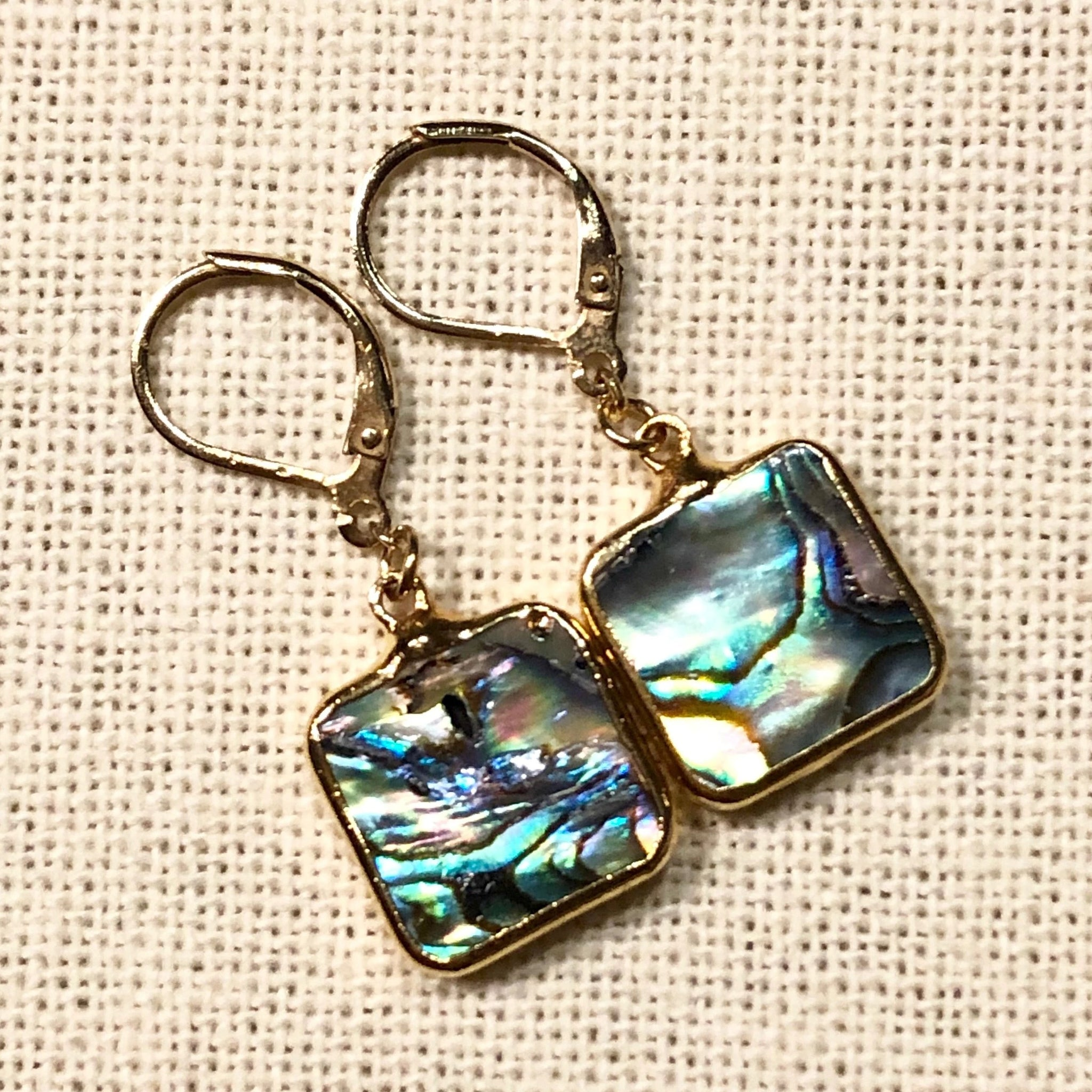 Abalone Landscape Gold Earrings by Sage Machado - The Sage Lifestyle