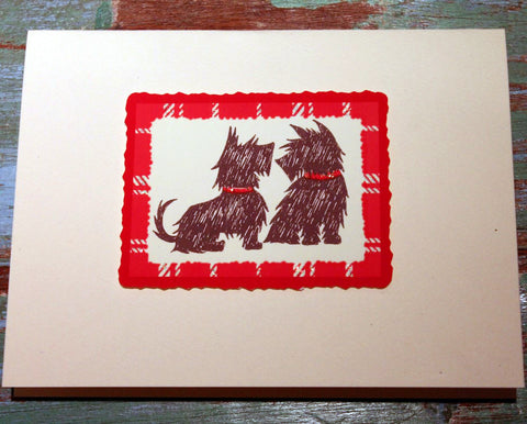 Scottish Terriers Greeting Card at The Sage Lifestyle