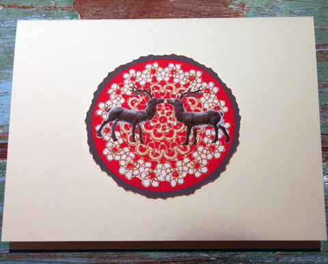 Reindeer Kiss Greeting Card at The Sage Lifestyle