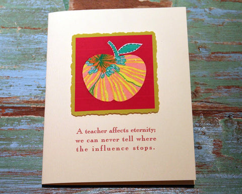 Teacher Greeting Card at The Sage Lifestyle - The Sage Lifestyle