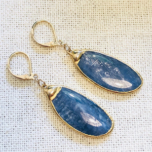 Kyanite Blade Gold Earrings by Sage Machado