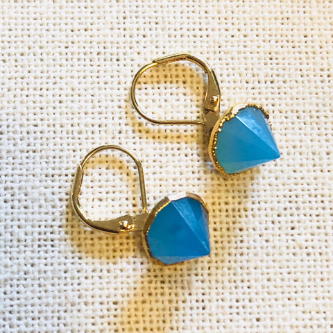 Blue Onyx Spike Drop Earrings by Sage Machado, Blue Onyx Spike Drop Earrings - The Sage Lifestyle