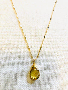 Rudilated Quartz Charm Necklace on Gold Chain by Sage Machado - The Sage Lifestyle