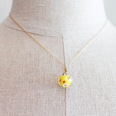 Yellow Czech Glass Kids Keepsake Necklace by Sage - The Sage Lifestyle