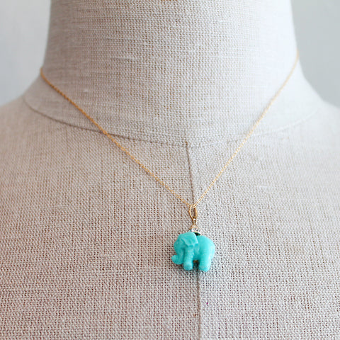 Elephant Resin Kids Keepsake Necklace by Sage