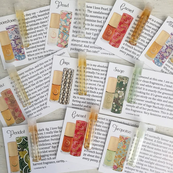 Perfume Oil by Sage - Sample Vial set of 10 Perfume Oil Samples by Sage - The Sage Lifestyle