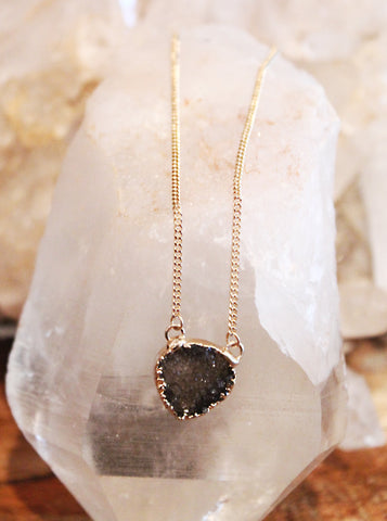 Druzy Agate Tier Drop Necklace by Sage - The Sage Lifestyle