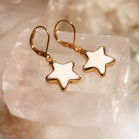Howlite Stars Earrings by Sage
