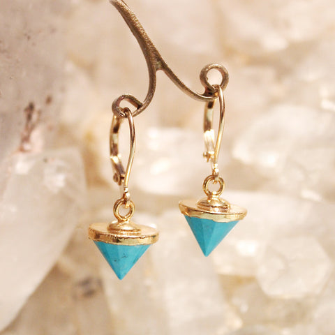 Blue Onyx Spike Earrings by Sage - The Sage Lifestyle