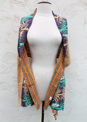 River Fern One of a Kind Shawl, Reversible