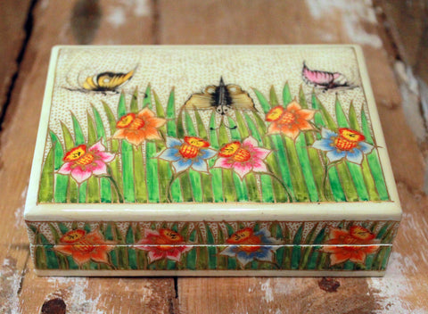 Hand Painted Jewelry Box at Sage - Large