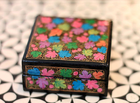 Hand Painted Square Jewelry Box in Dreamy Day