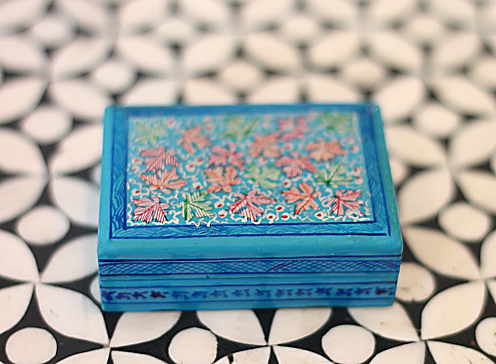 Hand Painted Trinket Jewelry Box in Clouds Above - The Sage Lifestyle