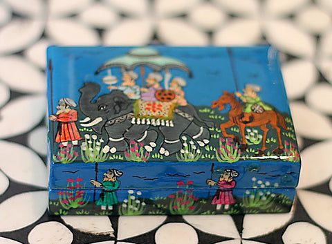 Hand Painted Trinket Jewelry Box in The Journey - The Sage Lifestyle