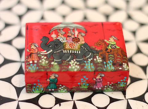 Hand Painted Trinket Jewelry Box in Sunset Journey - The Sage Lifestyle