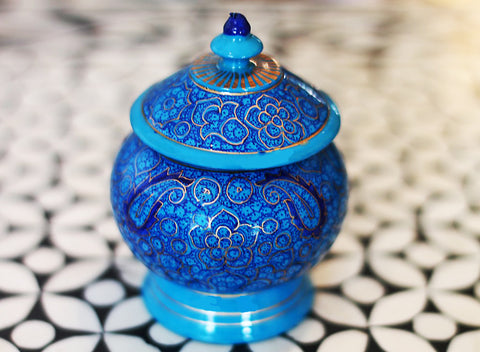 Hand Painted Jewelry Box in Lapis Lazuli - The Sage Lifestyle