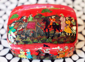 Hand Painted Jewelry Powder Box in The Journey - The Sage Lifestyle