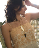 Large Bone Feather on Leaf Chain - Mermaid Soul Necklace by Sage