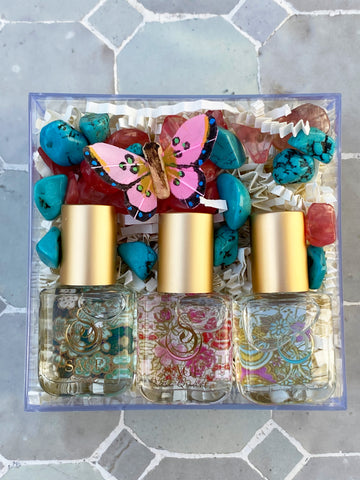Secret Garden~Rose Quartz, Turquoise, and Sage Extract Gift Set by Sage - The Sage Lifestyle